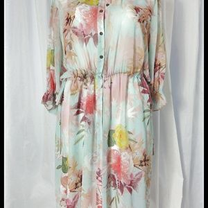 Vince Camuto - Faded Blooms Side Tie Tunic